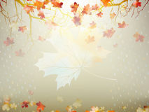 Autumnal maple leaf made of triangles. EPS 10 Stock Photos