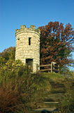 Autumnal Monument. The Julian Dubuque Monument, south of Dubuque, Ia. on an Autumn day Royalty Free Stock Images