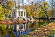 Autumnal motif in old park, Europe stock photography