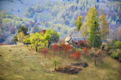 Autumnal mountain cottage Royalty Free Stock Photo