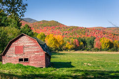 Autumnal Mountain Landscape and Clear Sky Stock Photography