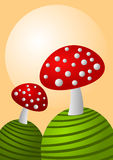 Autumnal Mushrooms Greeting Card Stock Image