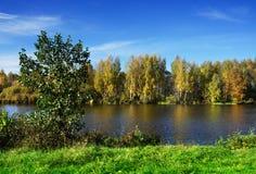 Autumnal nature, river Stock Photos