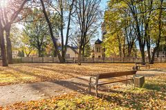 Autumnal old city park, Jurmala, Latvia Royalty Free Stock Photos