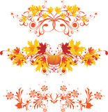 Autumnal ornaments. Design elements - vector illustration Royalty Free Stock Image