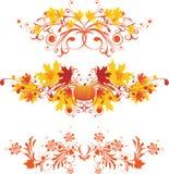 Autumnal ornaments. Design elements - vector illustration stock illustration