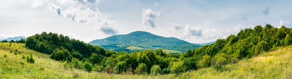 Autumnal panorama of mountainous countryside Royalty Free Stock Photography