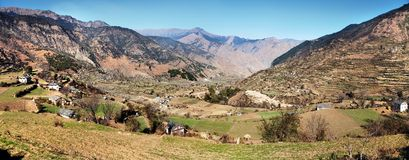 Autumnal panoramic view from western Nepal Royalty Free Stock Images