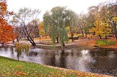 Autumnal park in the center of Riga, Latvia. royalty free stock photo