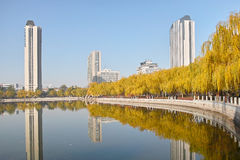 Autumnal park. The autumnal scenery of Longtan Park in Taiyuan,Shanxi,China Stock Photography