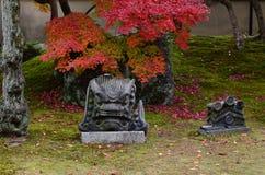 Japanese garden at autumn, Kyoto Japan. Stock Images