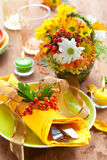 Autumnal place setting Stock Images