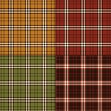 Autumnal plaids. Background patterns stock illustration