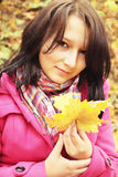 Autumnal portrait Stock Images