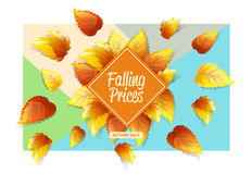 Autumnal Promo Background Royalty Free Stock Photos