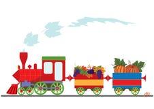 Autumnal retro locomotive Stock Photo