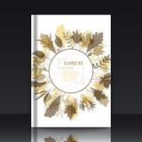Autumnal round frame. Wreath of autumn leaves Royalty Free Stock Photo