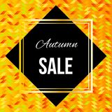 Autumn Sale Poster Illustration with Geometric Background. Autumnal sale and discount advertisement Stock Images