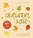 Autumnal  sale Stock Photo