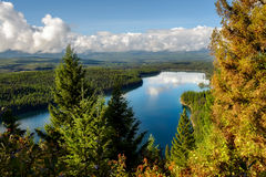Autumnal Scene at Holland Lake. In Montana Royalty Free Stock Photography