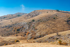 Autumnal scenery in Babuhan Yaila natural reserve Royalty Free Stock Photos