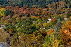 Autumnal scenery of Kovachevitza, Bulgaria. Colorful autumnal scenery of Kovachevitza village, Bulgaria Stock Photos