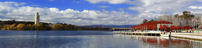 Autumnal Scenery of Lake Burley Griffin Royalty Free Stock Image