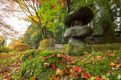 Autumnal scenery of Nikko national park Royalty Free Stock Photo