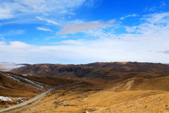The Autumnal Scenery of Qinghai - Tibet Plateau Stock Photography
