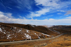 The Autumnal Scenery of Qinghai - Tibet Plateau Stock Image
