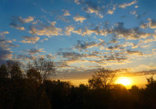 Autumnal scenery, sunrise Royalty Free Stock Photos