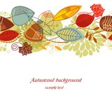 Autumnal seamless background. Seamless pattern with leaves in autumn colors Royalty Free Stock Images