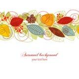 Autumnal seamless background Stock Photos