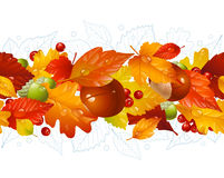 Autumnal seamless horizontal background Royalty Free Stock Photos