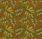 Autumnal seamless pattern Stock Image