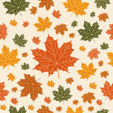Autumnal  seamless  pattern on beige background. Vector illustration for your design project Stock Photo