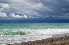 Autumnal season on a Black Sea shore Royalty Free Stock Photography