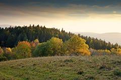 Autumnal sunset Stock Photos