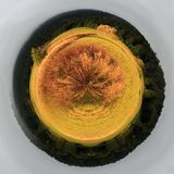 Autumnal sunset planet Stock Photo