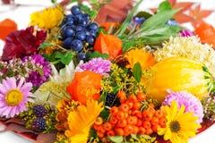 Autumnal table decoration Stock Photo