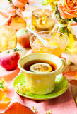 Autumnal table setting Stock Photography