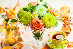 Autumnal table setting Stock Photos