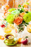 Autumnal table setting Royalty Free Stock Image