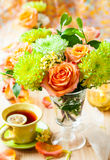 Autumnal table setting Royalty Free Stock Photography