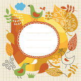 Autumnal theme. Colors leaves, place for text vector illustration