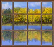 Autumnal throught Window, Stock Images