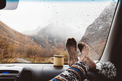 Autumnal travel concept Stock Images
