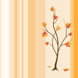 Autumnal tree. Illustration of autumnal tree with falling leaves Stock Photography