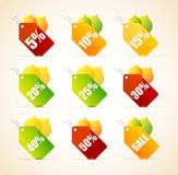 Autumnal vector discount leaves Royalty Free Stock Photos