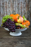 Autumnal vegetables and fruits. Fresh autumn fruit and vegetables Royalty Free Stock Images